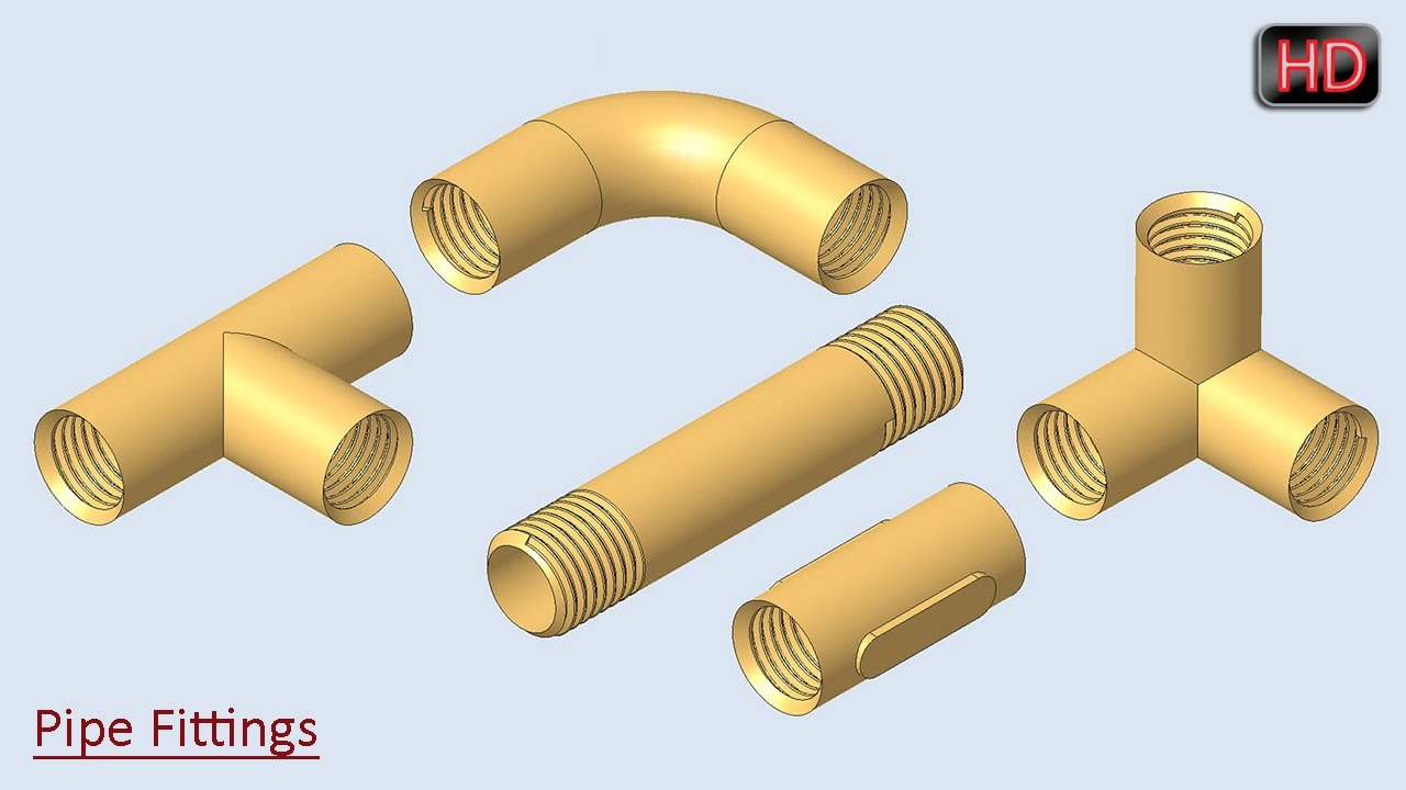 Pipe fittings creo parametric tutorial youtube