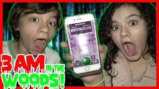 DO NOT USE THIS GHOST APP AT 3AM IN A HAUNTED FOREST! SO SCARY!