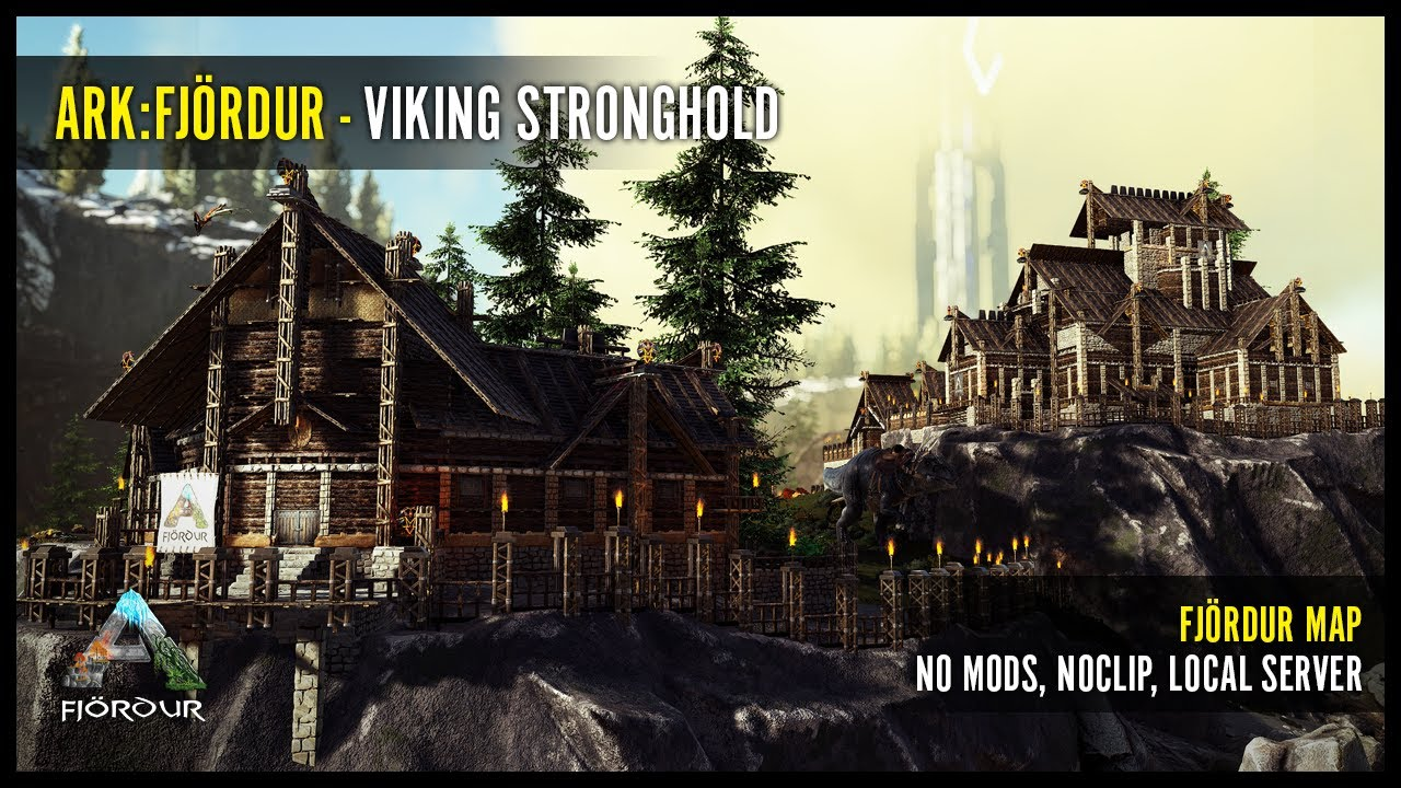 ARK Viking Stronghold - Fjördur map, PvE, No Mods