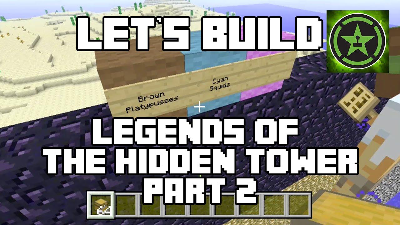Let's Build in Minecraft - Legends of the Hidden Tower Part 2