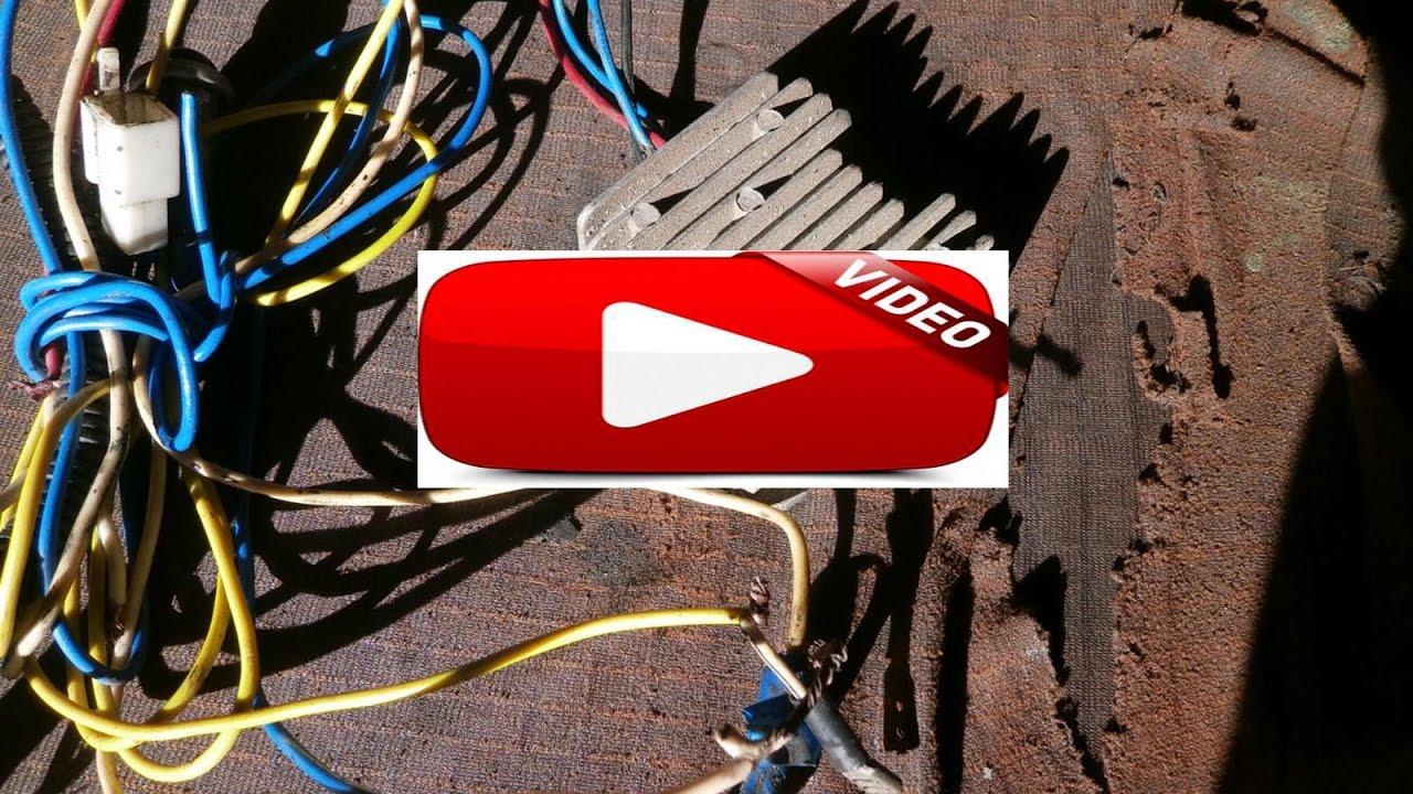 как правильно убрать штатное реле зарядки мототрактора