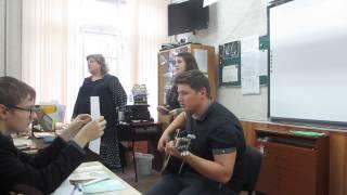 """Мы с Тёмой поём песню на стихи А. Ахматовой """"Песня последней встречи"""""""