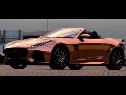 Rose Gold Chrome Jaguar F Type Prestige Graphic Installations