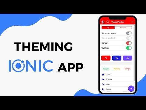Theming Ionic 4 and Angular Application