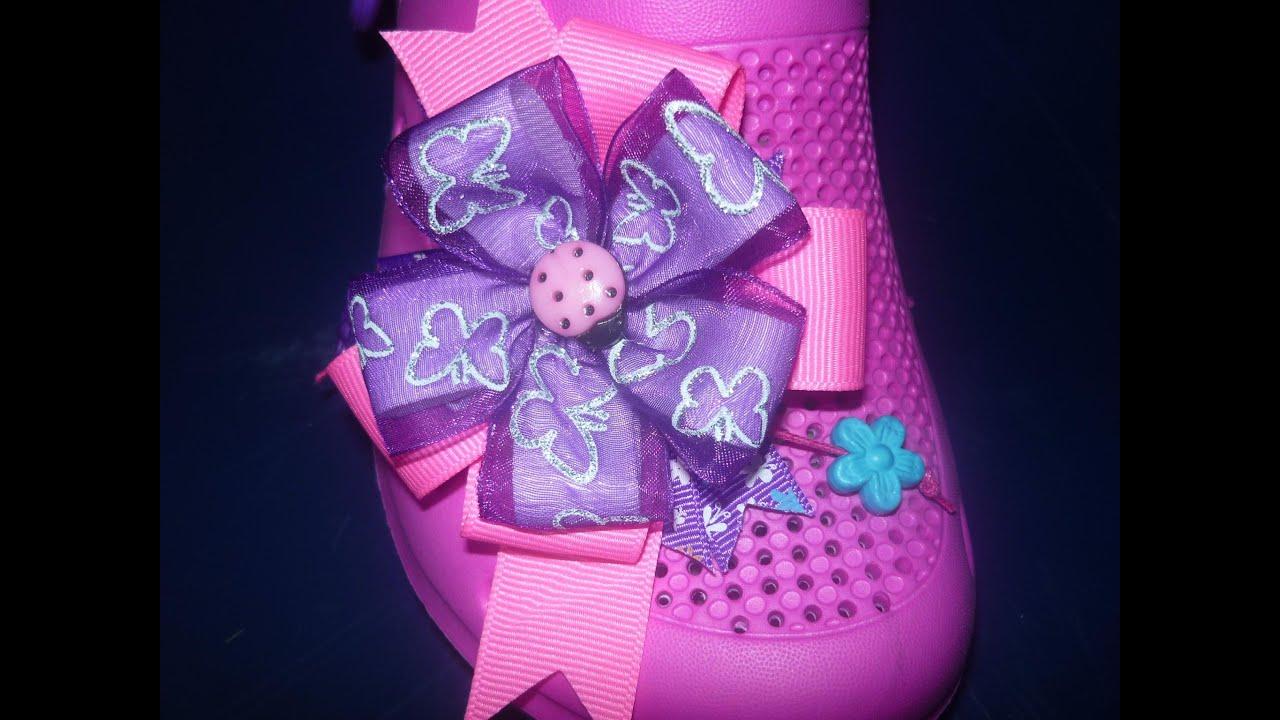 Como decorar sandalias con mo os elegantes y flores en for Decorar con lazos