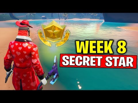 WEEK 8 SECRET BATTLE STAR LOCATION! Fortnite Season 10 - Secret Battle Star Week 8 | TamashaBera