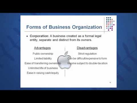 Session 01: Objective 2 - Forms of Business Organization