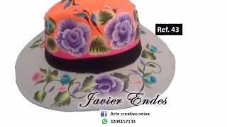 Sombreros pintados  javier endes