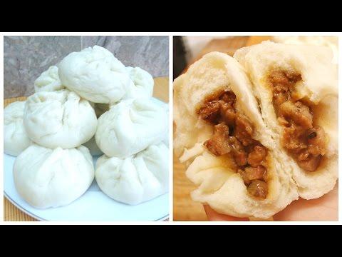 Chinese Steamed BBQ Pork Bun (Dim Sum Char Siu Bao)