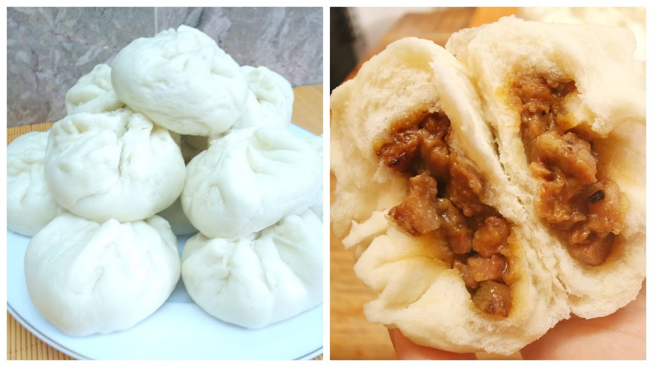 Chinese Steamed BBQ Pork Bun (Dim Sum Char Siu Bao) - YouTube