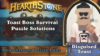 Hearthstone Puzzle Labs - Toast Boss Survival Puzzle Solutions
