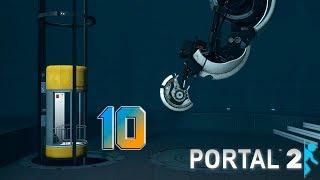 Portal 2 прохождение на геймпаде [60 fps] часть 10 Оранжевый-голубой, голубой-оранжевый