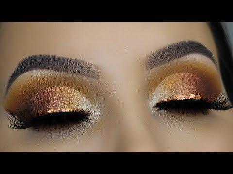 Copper Glitter Cut Crease | Affordable Makeup Tutorial thumbnail