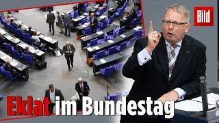 Eklat! AfD-Abgeordnete verlassen Bundestag während Generaldebatte