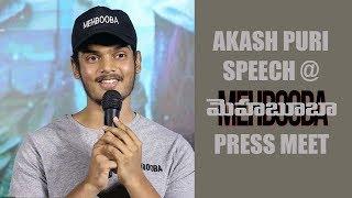 Akash Puri Speech at Mehbooba Press Meet    Puri Jagannadh, Akash Puri, Neha Shetty