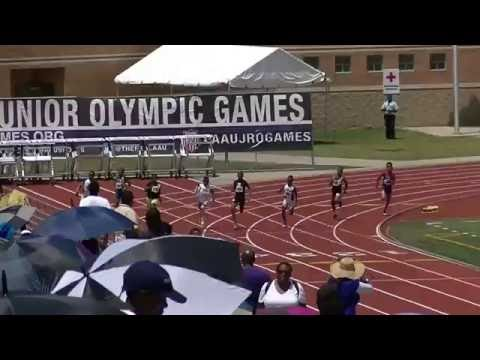 9yr Jonathan Simms 27.42s 200m Finals AAU Junior Olympics 2016
