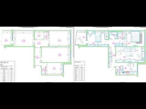 Перепланировка трехкомнатной квартиры в доме серии 121-014