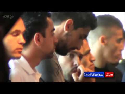 Jugadores del Barcelona lloran la muerte de Tito Vilanova 2014