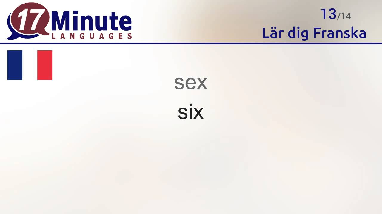 Lär dig Franska (kostnadsfri språkkurs-video)