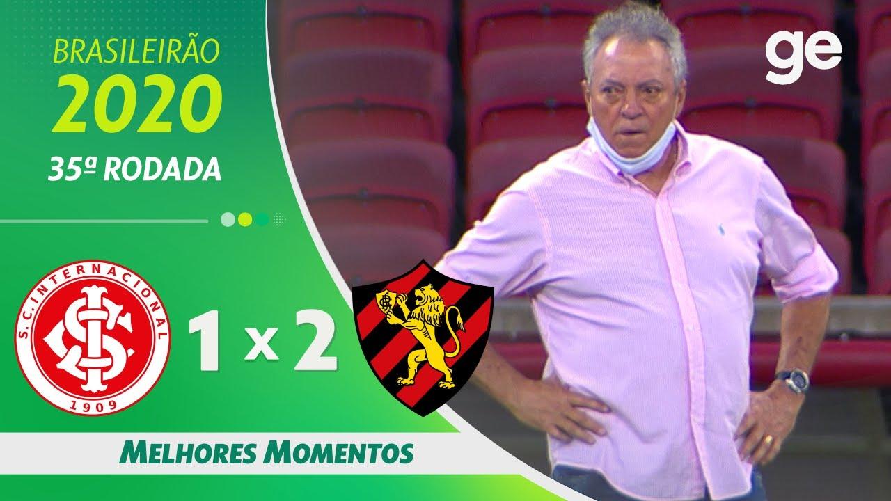 INTERNACIONAL 1 X 2 SPORT  | MELHORES MOMENTOS | 35ª RODADA BRASILEIRÃO 2020 | ge.globo