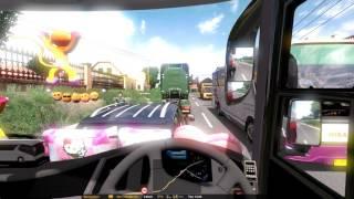 ETS2 Mod Bus Laksana Legacy SR2 + XHD test drive