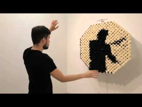 Daniel Rozin, PomPom Mirror, 2015 from bitforms gallery on Vimeo
