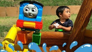 Thomas and Friends Toy Trains Percy James Pirate Ship Pool Fun Water Balloons
