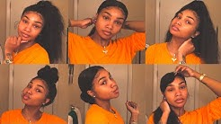 14 WAYS TO SLAY   5 MINUTE HAIR STYLES FOR YOUR LACE FRONTAL   TONI ALIEL