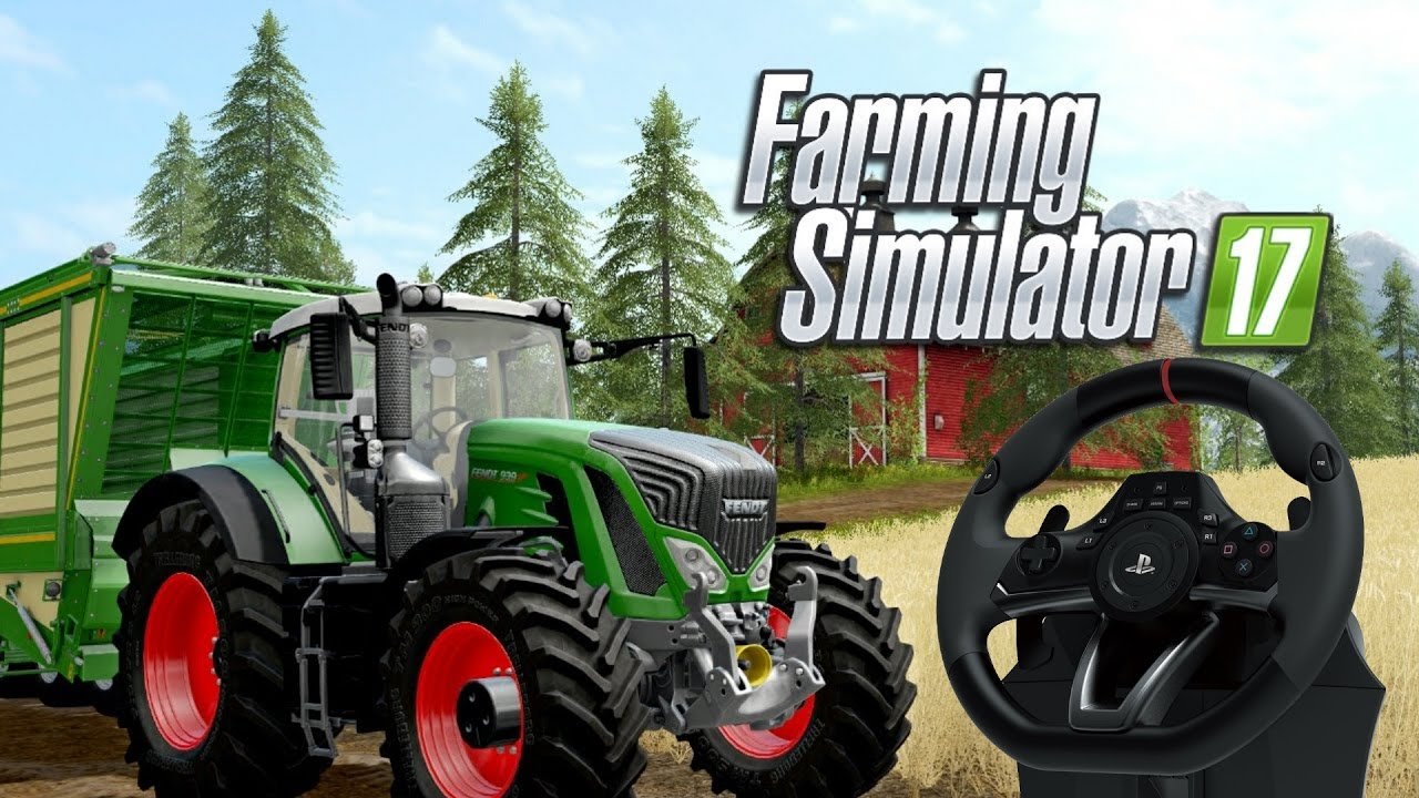 37ddfb31fe6 Hori Apex Steering Wheel PS4 TEST FS17 - YouTube