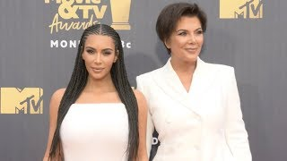 Kim Kardashian and Kris Jenner at 2018 MTV Movie And TV Awards Red carpet
