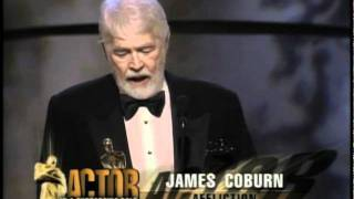 James Coburn winning Best Supporting Actor