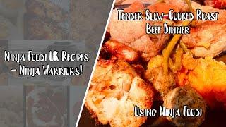 Ninja Foodi UK Recipes  Slow cooked roast beef dinner