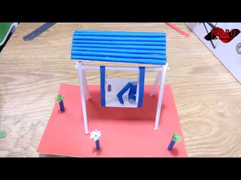 How To Make A Swing Set with paper - origami homemade diy projects for kids