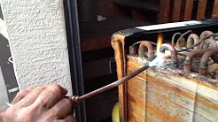 Repairing air conditioning indooor coil