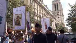 Notre Dame de Paris. Assomption 2015. Procession mariale - 1