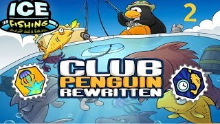 Club Penguin Rewritten: Ice fishing Part 2 - Shock King and Fly Fisher Stamps!
