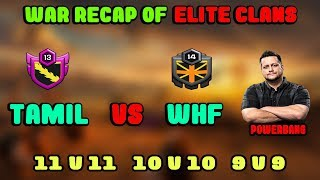 TAMIL Vs WHF Clan War Recap | India Vs America Best Elite Clan War Highlight | Clash Of Clans