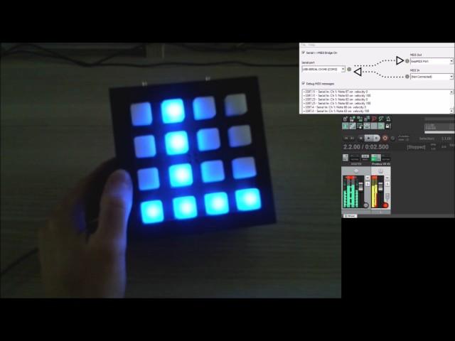 Button pad 4x4 - Arduino - Enclosure + step sequencer