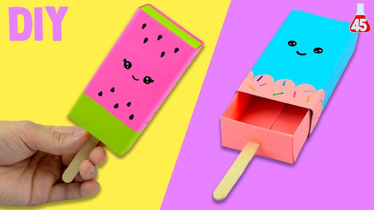 Portaoggetti di carta fai da te diy gelato kawaii youtube for Cose per la casa fai da te