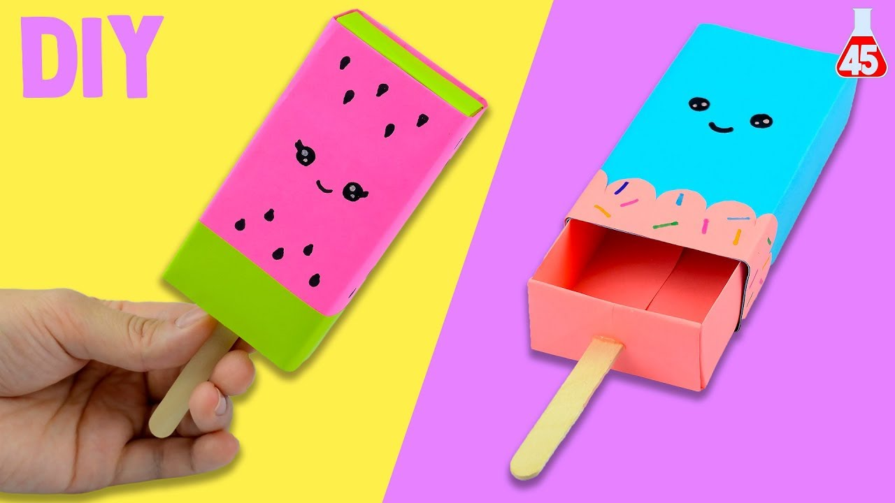 portaoggetti di carta fai da te diy gelato kawaii youtube