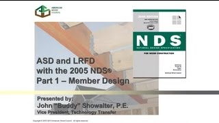 2005 Nds For Wood Construction - Asd/lrfd - Part I: Member Design