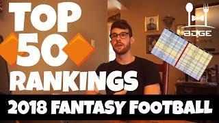 2018 Fantasy Football Rankings - Top 50 Overall (June 2018)