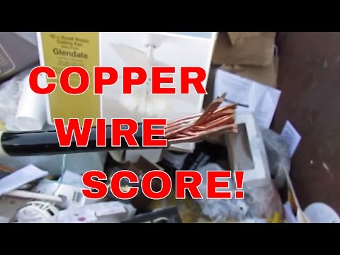Copper Wire Score! Make Money Dumpster Diving & Cash Metal Scrapping - Christmas Eve Haul 12-24-16