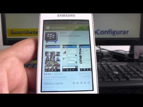 Como Descargar Blackberry Messenger Bbm Gratis Samsung Galaxy Young S6310 Español Full HD