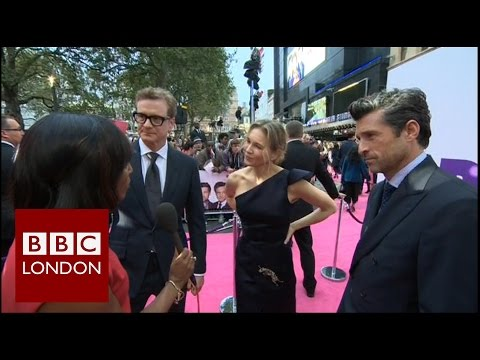 Colin Firth, Patrick Dempsey & Renée Zellweger interview at premiere of Bridget Jones's Baby