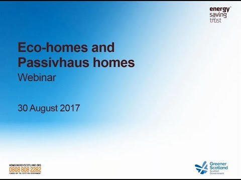 Webinar: Eco Homes and Passivhauses