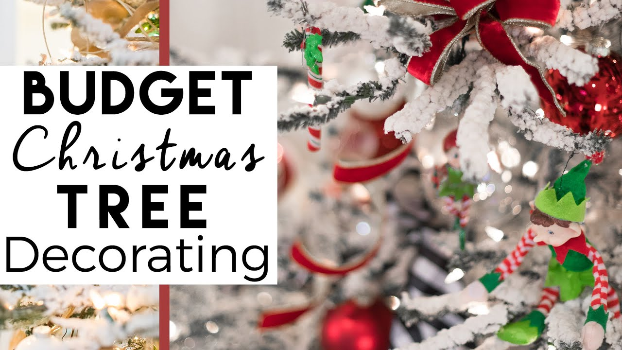 family friendly christmas tree decorating on a budget red and green christmas tree 3 - Under Christmas Tree Decorations
