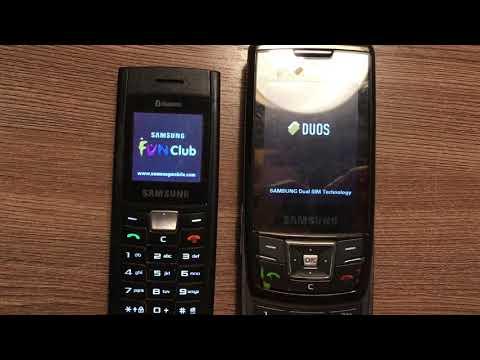 Samsung SGH-C180 And D880 Startup / Shutdown
