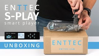 S-PLAY: UNBOXING ~ DMX Ethernet lighting show smart player/recorder