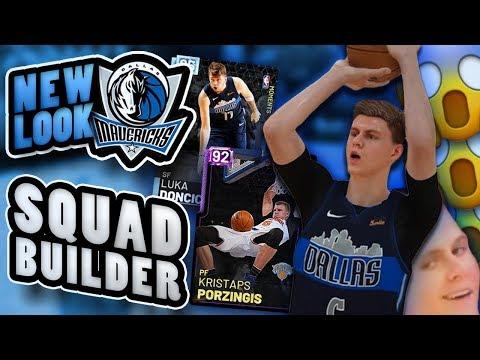 Kristaps Porzingis Dallas Mavericks Squad Builder in NBA2K19 MyTeam
